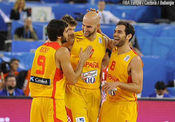 7. Xavier Rey (Spain), 8. José Calderón (Spain), 9. Ricky Rubio (Spain)